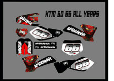 KTM SX 50 65 FULL GRAPHICS KIT DECALS STICKER KIT ALL YEARS SPIDERMAN