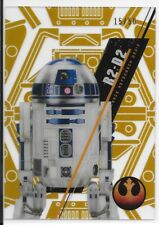2016 Topps Star Wars High Tek Gold Rainbow R2-D2 /50 SW-92