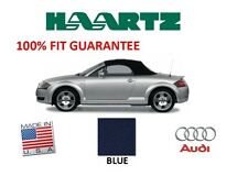 Audi TT 2000-2005 Convertible Soft Top With Glass Window Blue Stayfast Cloth NEW
