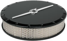 BILLET SPECIALTIES STREAMLINE SATIN BLACK ALUMINUM AIR CLEANER,LARGE ROUND,14""