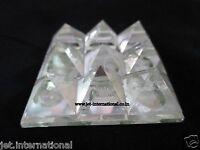 Jet 9 Pyramid Plate Crystal Quartz Power Protection Vastu Healing Feng Shui