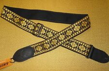 GRETSCH GUITARS 1960's style BLACK GOLD WOVEN GUITAR STRAP G BRAND DUO JET 6120