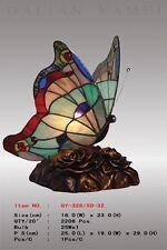 Tiffany Schmetterling ,Tiffanylampe, Tiffany Lampe, Tier blau grün rot, neu S3