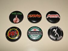 Thrash Metal PIN SET 6pcs Hanneman Alcoholica Slayer Exodus Overkill