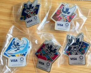 5 New Visa Tokyo 2020 olympic mascot pins