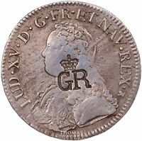 Louis XV - Écu aux branches d'olivier - 1726 M Toulouse - Contremarque GR