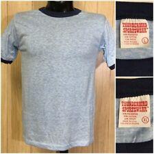 Vtg Thunderbird Sportswear T-Shirt Deadstock Blank Soft Thin Ringer Usa