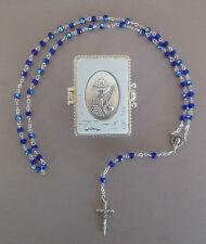 Rosenkranz dunkelblaue Perlen Schatulle Kommunion Kelch Junge AR 629 -26