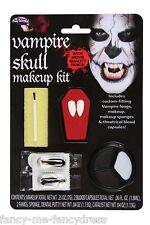Hombre Mujer Vampiro De Halloween Sangre De Colmillos Maquillaje Disfraz Kit Set