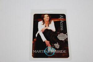 Martina McBride - Laminated Backstage Pass -  Lot # 1 - FREE POSTAGE