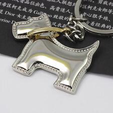 Creative Polished Chrome Dog Keychain Key Chain Ring Keyring Keyfob Key Holder