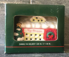 00004000 Vtg X-Mas Toy Shoppe Tea Light Candle Holder American Greetings New Old Stock