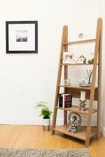 Riva Scandinavian Retro Ladder Bookcase Shelving Shelf Unit Oak 5 Tier