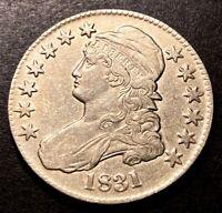1831 Capped Bust Silver Half Dollar 50c Rare O-105 Variety R-3 High Grade