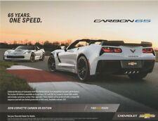 2018 Chevy Corvette Carbon 65 info card