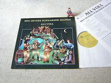 DES GEYERS SCHWARZER HAUFEN All voll 1988 LP + INSERT ORCHESTROLA, MITTELALTER