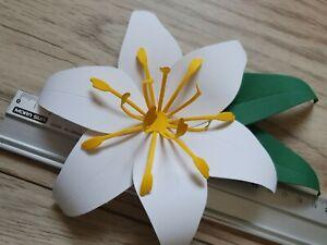 Blumen 6 Stück Lilien ca.20 cm groß Deko Papier Hochzeit Kunstblumen