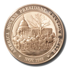 Franklin Mint History of US America Mourns Kennedy's Death 1963 45mm Proof Bronz