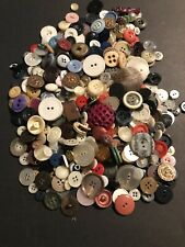 Large Lot Of Mixed Sewing Buttons 14oz Antique Vintage Some Modern -Exact Lot B