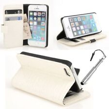 Fundas y carcasas transparentes de piel sintética para teléfonos móviles y PDAs Apple