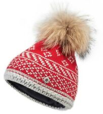 NWT Bogner Fire+Ice Casey Fur Pom Beanie Winter Hat L $189