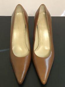 Anne Klein Ladies Brown Leather Pump Heels - Size 10