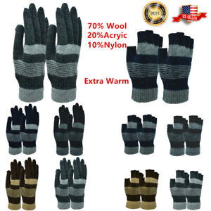 Unisex Winter Gloves Knitted Magic Fingerless Warm Half Finger Mitten Strech