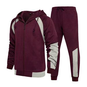 Mens Tracksuit 2 Piece Casual Pants Jacket Coat Sweatsuit Hip Hop Sweatshirt Set