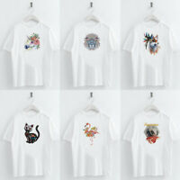Harajuku Cute Animal Print T Shirt Short Sleeve O Neck Loose Women Tops Tee