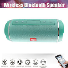 3D Tragbarer Wireless Bluetooth Lautsprecher Stereo Subwoofer SD FM Musicbox DHL