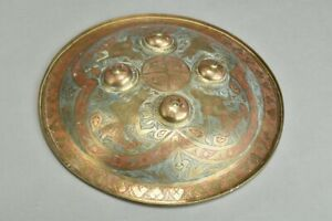 Ex Private Museum Collection. Islamic Warrior's c1830 Worked Brass Shield. AXO