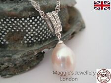 Boxed UK Sterling Silver Freshwater Pearl Necklace