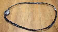 """Necklace with Leather braided chain """"A"""" snap (AR)"""