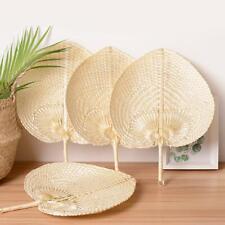 Heart Shaped Woven Bamboo Fan DIY Summer Handmade Cooling Fans Vintage Decor