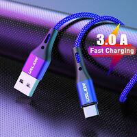 3.0A Fast Charging Micro USB Type C Data Sync Charger Cable For Samsung Huawei