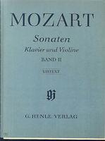 Mozart - Sonaten Klavier und Violine Band II - Urtext