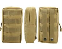 Tactical Molle Utility Accessory Vest Pouch Bag Military Ourdoor Waist Bag TAN