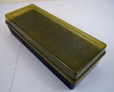 Vintage Cassette Tape Case Holder Hard Shell 15 Tape Capacity
