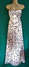 TED BAKER UK 10 /TB2 Cream Strapless Butterfly CALIPSO Evening long Maxi DRESS