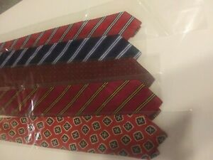 Lot of 5 Brooks Brothers Makers Men's 100% Silk Designer Luxury NeckTie EUC USA
