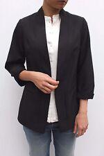 Studio 8 Black Alanis Relaxed Fit Open Front Smart Work Blazer Jacket  12 - 26