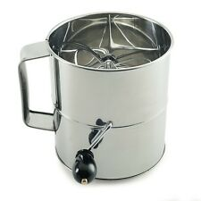 NORPRO S/Steel ROTARY Flour Sifter Cup Icing Sugar Shaker Strainer Sieve NP146 N
