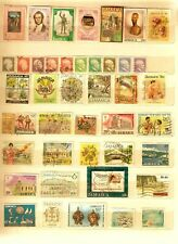 Vintage Collection of 42 Jamaica Postage Stamps on stockcard