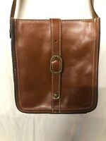 Patricia Nash Bag Leather Cognac Venezia Pouch Crossbody Bag Purse