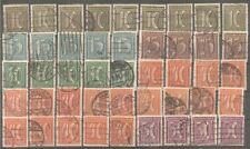 Deutsches Reich vanaf 158 gestempeld  c.w.  €  130,00 WM Ruiten
