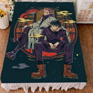 Anime jujutsu kaisen fushiguro megumi Bed sheet Blanket Bedding Gift