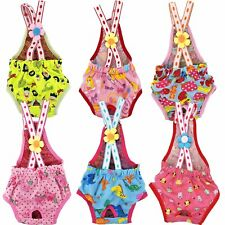 SMALL Dog ONLY Puppy Female Diaper Sanitary Pants Suspenders Stay On XXS - XL
