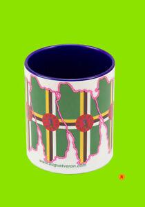 Dominica Flag design blue Mug