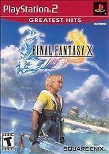 Final Fantasy X (Sony PlayStation 2, 2001) COMPLETE CIB MANUAL BOX DISC