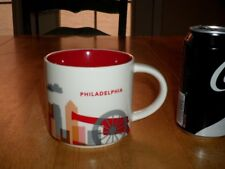 STARBUCKS COFFEE - PHILADELPHIA, JUMBO SIZED, Ceramic Coffee Cup / Mug, Vint